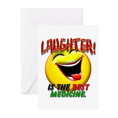 Laughter is the Best Medicine Greeting Cards (Pk o