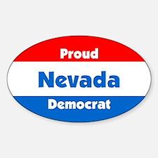 Proud Nevada Democrat Oval Decal