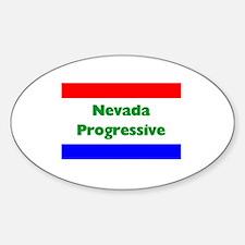 Nevada Progressive Oval Decal