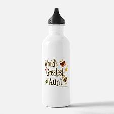 Aunt Butterflies Water Bottle