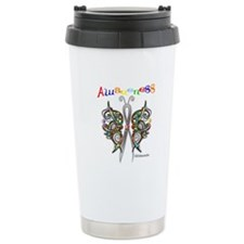 Autism Awareness Butterfly Travel Mug