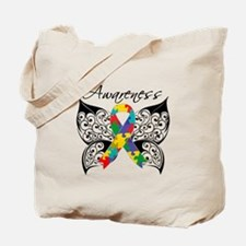 Awareness Butterfly Autism Tote Bag