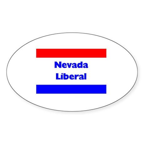 Nevada Liberal Oval Sticker