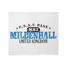 Mildenhall Air Force Base Throw Blanket