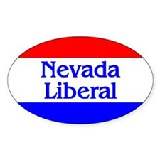 Nevada Liberal Oval Decal