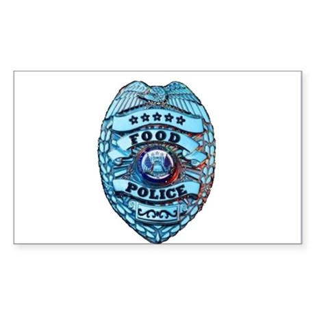 Police Badge Sticker (Rectangle)