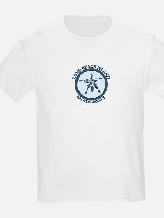 Long Beach Island NJ - Sand Dollar Design T-Shirt