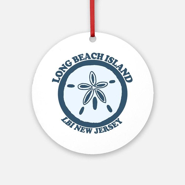 Long Beach Island NJ - Sand Dollar Design Ornament