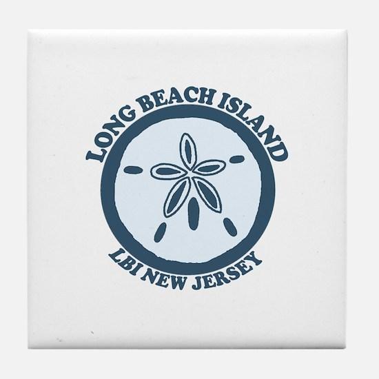 Long Beach Island NJ - Sand Dollar Design Tile Coa