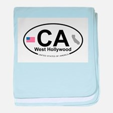 West Hollywood baby blanket
