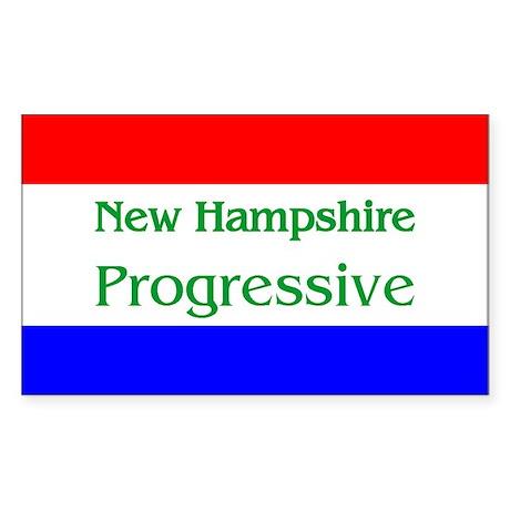 New Hampshire Progressive Rectangle Sticker