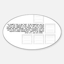 Cool Lol idk Sticker (Oval)