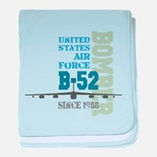 B-52 Bomber Military Aircraft baby blanket