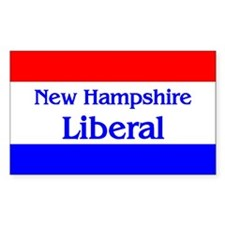 New Hampshire Liberal Rectangle Decal
