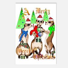 Merry Meerkat Christmas Postcards (Package of 8)