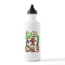 Merry Meerkat Christmas Water Bottle