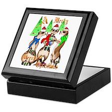 Merry Meerkat Christmas Keepsake Box