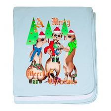 Merry Meerkat Christmas baby blanket