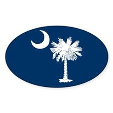 Blue South Carolina Flag Oval Decal