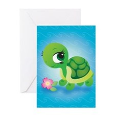 Toshi the Turtle Greeting Card