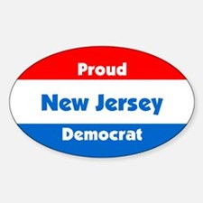 Proud New Jersey Democrat Oval Decal