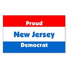 Proud New Jersey Democrat Rectangle Decal