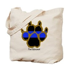 "BROWN ""PE"" Paw Print Tote Bag"