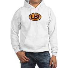 Long Beach Island NJ - Oval Design Hoodie