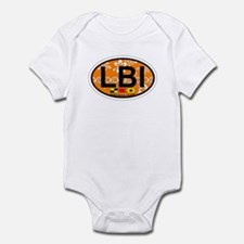 Long Beach Island NJ - Oval Design Infant Bodysuit