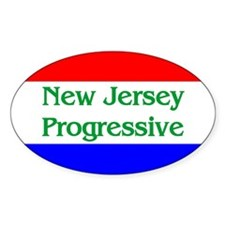 New Jersey Progressive Oval Decal