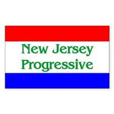 New Jersey Progressive Rectangle Decal