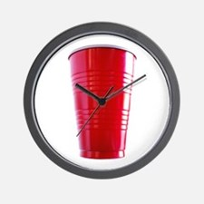 Red Cup Time! Wall Clock