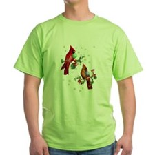 Two Christmas Birds T-Shirt