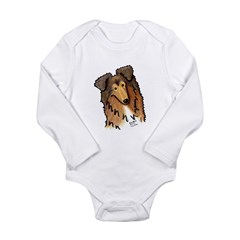KiniArt COLLIE Long Sleeve Infant Bodysuit