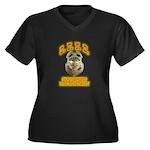 S.F.F.D. Women's Plus Size V-Neck Dark T-Shirt