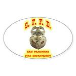 S.F.F.D. Sticker (Oval 50 pk)