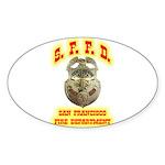 S.F.F.D. Sticker (Oval 10 pk)