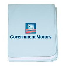 Government Motors Detroit baby blanket