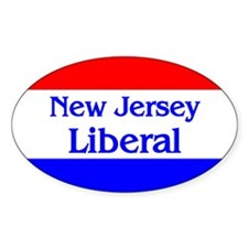 New Jersey Liberal Oval Decal