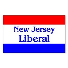 New Jersey Liberal Rectangle Decal