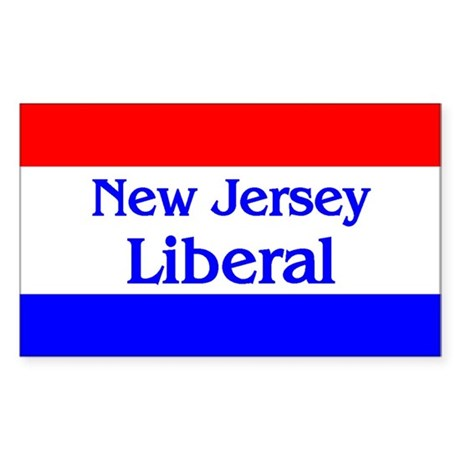 New Jersey Liberal Rectangle Sticker