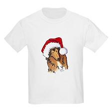Santa Paws Collie T-Shirt