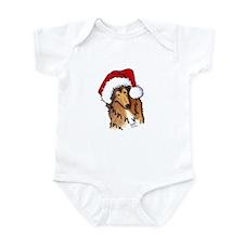 Santa Paws Collie Infant Bodysuit