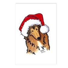 Santa Paws Collie Postcards (Package of 8)