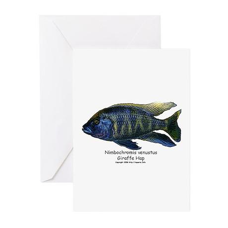 Nimbochromis venustus (Giraff Greeting Cards (Pack