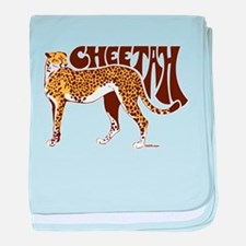 Cheetah baby blanket