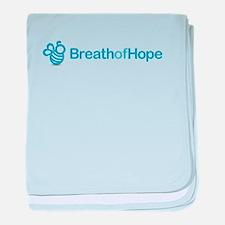 2010 Breath of Hope Logo baby blanket