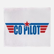 Co Pilot Wings Throw Blanket