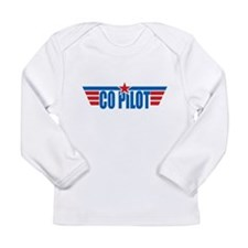 Co Pilot Wings Long Sleeve Infant T-Shirt