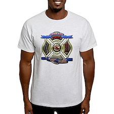 T-Shirt Firefighter fire department shield